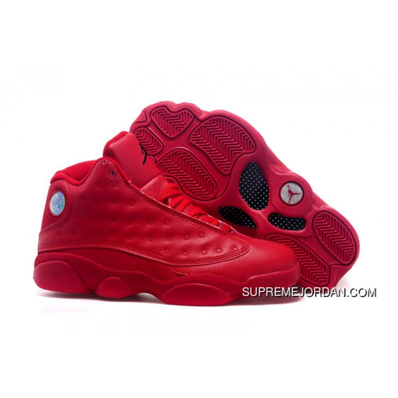 timeless design 18295 8aaa4 2018 Air Jordans 13 All Red Shoes New Style