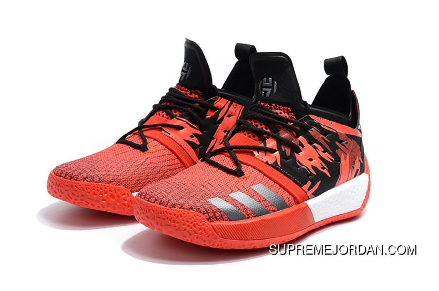 2d64083aec5 2018 Adidas Harden Vol. 2 Traffic Jam Red Black Outlet, Price ...
